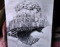 Dibujando Anime ~  STUDIOGHIBLI ~ Castillo en el cielo