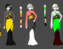 CHARACTER DESIGN AND COLOR SCHEME