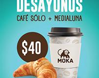 Cafetería Moka, Afichetas internas