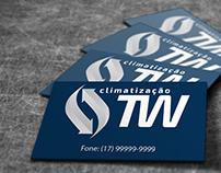 Logotipo e Cartão de Visitas TW Climatização