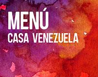 Menú Casa Venezuela