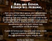 Abra uma cerveja esqueça dos problemas