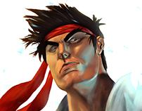 Ryu Street Fighter Fã arte releitura.