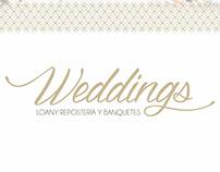 Branding Weddings Loany Pastelería