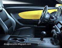 3D interior car