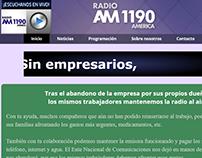 Pagina web de Radio América