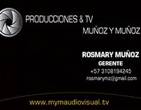 Tarjeta Presentación Producciones & TV Muñoz y Muñoz