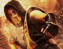 Scorpion de Mortal Kombat + Proceso