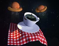 Desayuno Espacial - modelado 3d