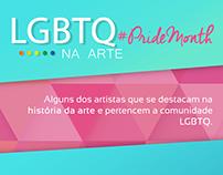 Post de comemoração ao Orgulho LGBT