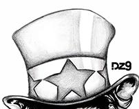 Skull/Lincoln/Tio Sam | DZ9