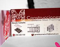 M Construcciones - Logo y Tarjetas de Presentación