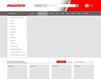 "Parallax Web design for ""PANAFOTO"""