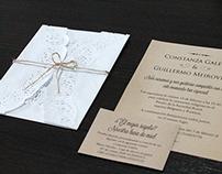 Tarjeta de casamiento - Rustic Wedding Invitation