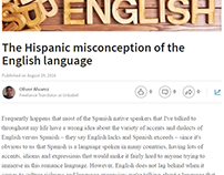 Post about the Hispanic misconception of English