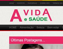 Desenvolvimento completo do site usando o Blogger.