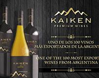 Gráfica de los vinos más exportados - KAIKEN WINES