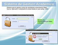 Sistema de Gestión Académica