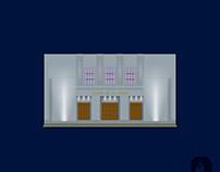 Teatro de la Opera. Flat illustration