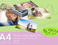 Etiquetas papel fotografico