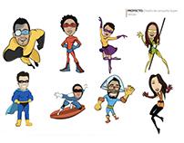 Diseño y desarrollo de la campaña de Superhéroes