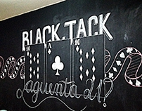 Blackjack Chalk Wall