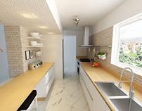 Cocina integrada de Apartamento Los Chorros