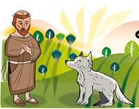 Caricaturas cristianas, San Francisco y el Lobo