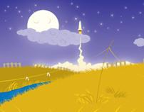 Diseño de escenarios y Personajes - El Cohete