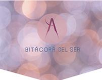 """Logotipo con símbolo """"Bitácora del ser"""""""