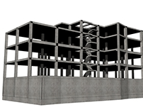 Structural analysis of a concrete building