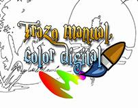 Trazo manual, color digital