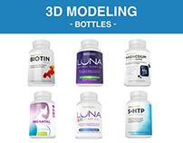 Modelagem 3D  - Bottles
