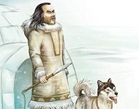 Ilustración para infografia esquimal