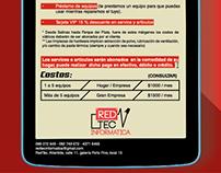 Hoja de presupuesto para empresa RedTec