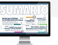 Digital magazine web experience