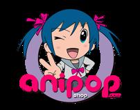 'aniPOP anime shop' logo proposal