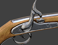 Old Pistol Lowpoly