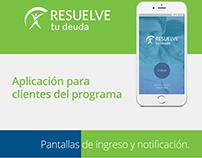Mock up de aplicación móvil para la marca RTD