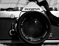 Olimpus filmcamara B&N