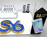 Diseño de Stand Samsung S6 Plus - Diseño 3d