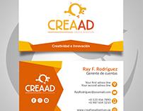 template para tarjeta de presentación • Creaad