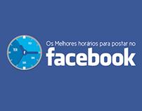 Infográfico estático - Melhores horários Facebook