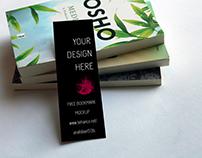 Small Bookmark Mockup Download Free 2