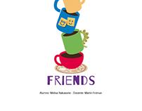 Rediseño de afiches para series o películas: Friends