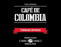 "Etiqueta para ""Café de Colombia"""