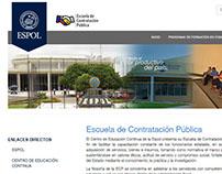 Página web de la Escuela de Contratación Pública