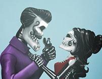 las calaveras - illustration