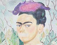 Ilustración Frida Khalo