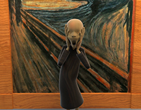 Scream from Edvard Munch 3D model